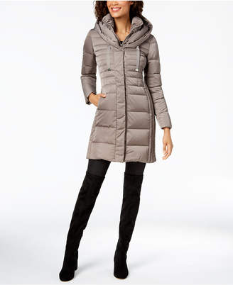 T Tahari Hooded Puffer Coat