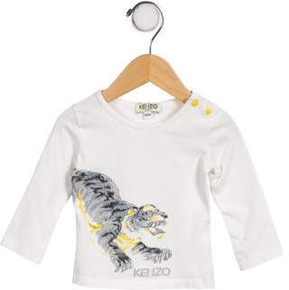Kenzo Boys' Graphic Long Sleeve Shirt
