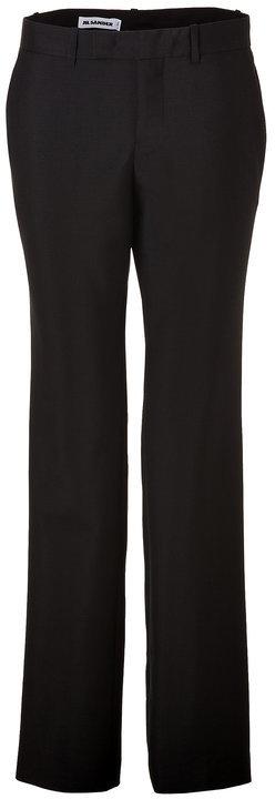 Jil SanderJil Sander Black Mohair/Wool/Silk Pants