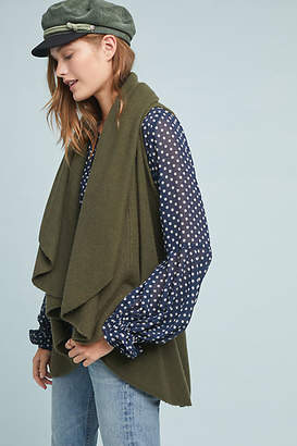 Anthropologie Cascades Shawled Vest