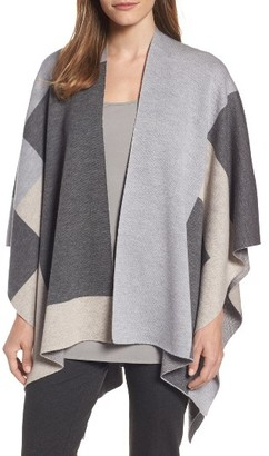 Women's Eileen Fisher Merino Wool Serape Wrap $368 thestylecure.com