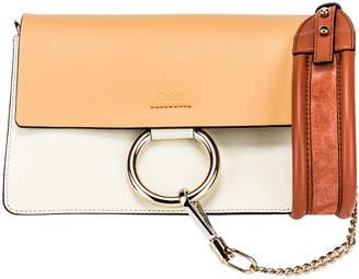 Chloé Small Faye Bag in Brown & White | FWRD