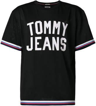 Tommy Hilfiger tri-stripe trim logo T-shirt
