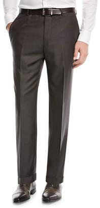 Santorelli Super 130s Wool Twill Dress Pants