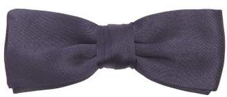 Prada Silk Satin Bow Tie - Mens - Navy