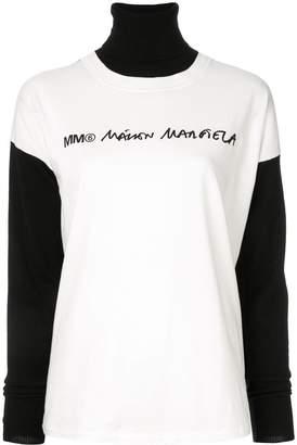 MM6 MAISON MARGIELA logo print jumper