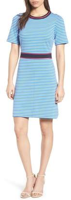 Draper James Stripe Persley Ponte Fit & Flare Dress