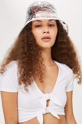 Topshop Heart Glitter Bucket Hat