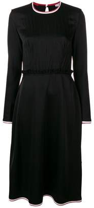 Loewe contrast-trim flared midi dress