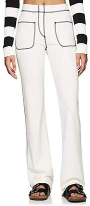 Marc Jacobs Women's Topstitched Stretch-Jersey Pants - Ivory