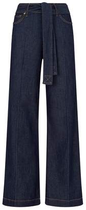 7 For All Mankind Lotta Belted Wide-Leg Jeans