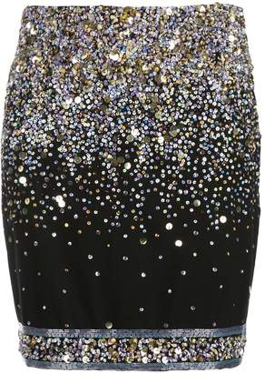 Leonard embellished mini skirt