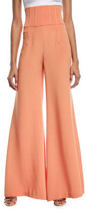 Cushnie et Ochs Jade High-Waist Wide-Leg Pants