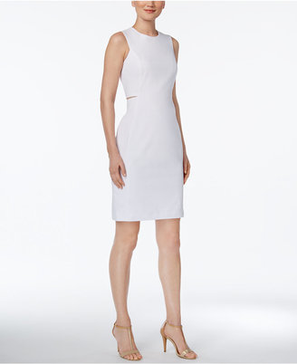 Calvin Klein Cutout Compression Sheath Dress $134 thestylecure.com