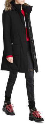 Woolrich Long Arctic Down Parka with Fur-Trimmed Hood $949 thestylecure.com