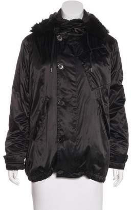 Ralph Lauren Shearling-Trimmed Hooded Jacket