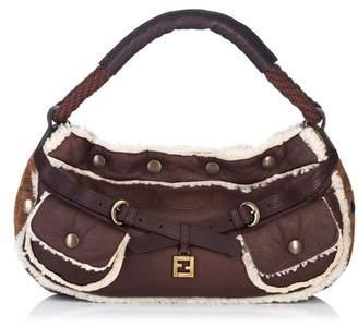 5c11bc14c8b6 Fendi Vintage Mouton Leather Baguette
