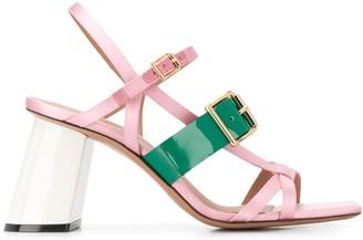 Marni slanted block heel sandals