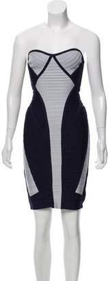 Herve Leger Bicolor Bandage Dress