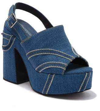 Jeffrey Campbell Mattix Jean Block Heel Sandal