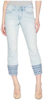 NYDJ Petite Petite Sheri Slim Ankle w/ Printed Raw Hem in Palm Desert Women's Jeans