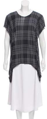 Torn By Ronny Kobo Sleeveless Tartan Top