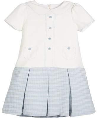 Luli & Me Drop-Waist Button Dress, Size 4-6X