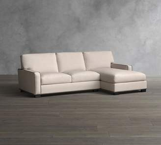 Pottery Barn Turner Square Arm Upholstered Sofa with Chaise Sectional