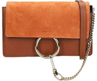 Chloé Mini Faye Bag In Rust Leather And Suede