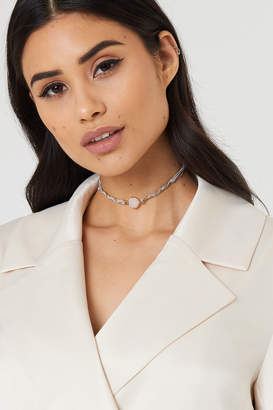 Tranloev Twined Suede and Chain Choker Black