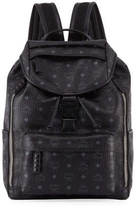 MCM Killian Logo Canvas Backpack