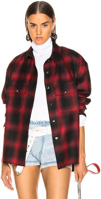 Alexander Wang Wool Button Off Flannel in Red | FWRD