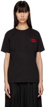 Bianca Chandon Black NYC Lips Pocket T-Shirt