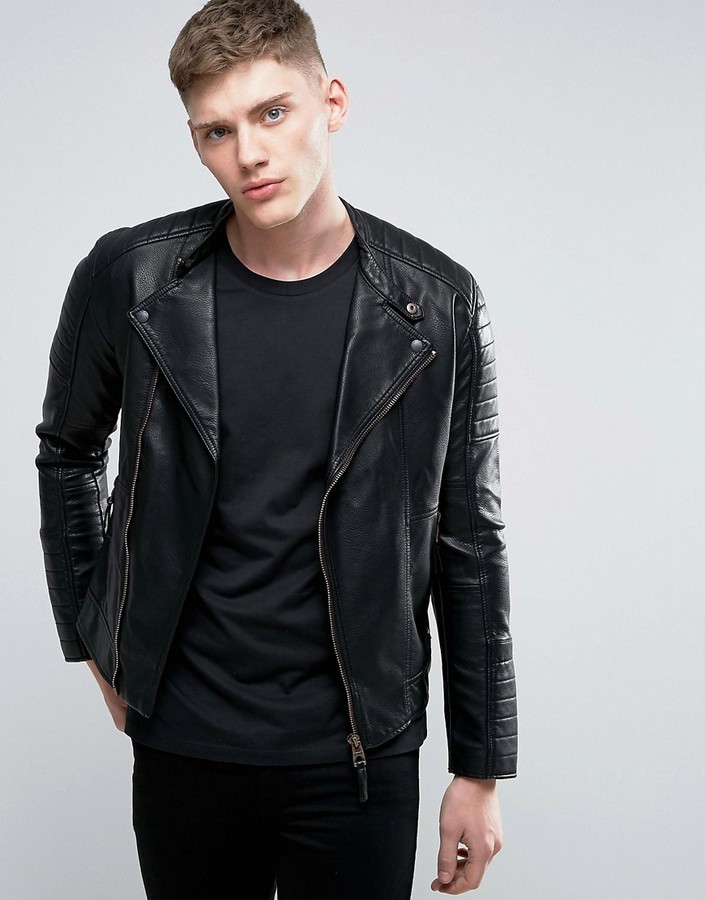 EspritEsprit Faux Leather Biker Jacket