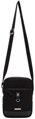 Saint Laurent Black Canvas Rivington Case Messenger Bag