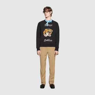Gucci Cotton sweatshirt with tiger