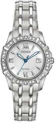 Citizen Women's Eco-Drive Diamond Quartz Stainless Bracelet Watch, 26mm - 0.0053 ctw