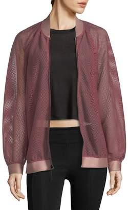 Koral Activewear Oversized Open Mesh Bomber Jacket