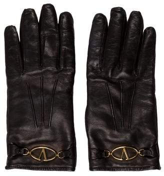 Valentino Cashmere-Lined Leather Gloves