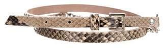 Dolce & Gabbana Snakeskin Chain-Link Belt