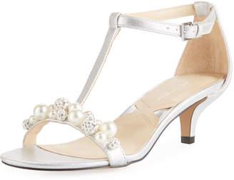 Adrienne Vittadini Kalina Metallic Embellished Sandal