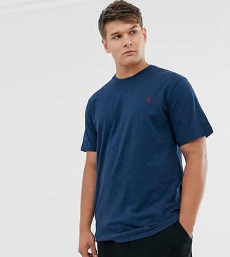 Polo Ralph Lauren Ralph Lauren Big & Tall player logo custom fit t-shirt in monroe blue heather