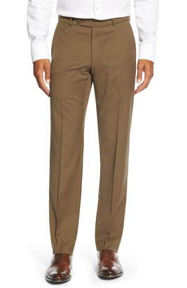 Ballin Classic FitFlat Front Solid Wool Trousers