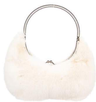 Valentino Fur Crystal-Embellished Hobo gold Fur Crystal-Embellished Hobo