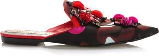 Emilio Pucci Embellished Flat Mule $850 thestylecure.com