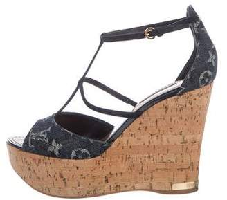 Louis Vuitton Denim Monogram Wedges