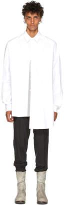 Juun.J White Poplin Asymmetric Shirt