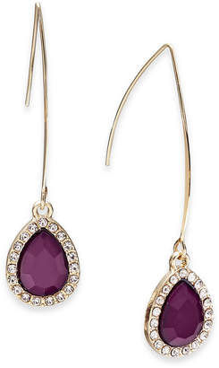 INC International Concepts I.N.C. Gold-Tone Teardrop Stone Wire Drop Earrings, Created for Macy's
