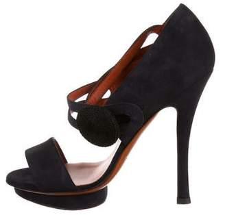 Santoni Suede Open Toed Sandals w/ Tags