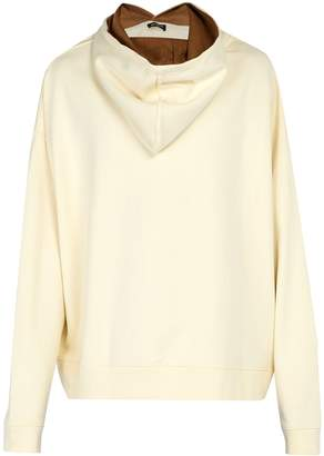 Raf Simons Back-to-front cotton hooded sweatshirt